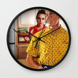 Ask Me What's For Dinner One More Time Wall Clock