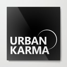 The Urban Karma Co. Brand Logo Signature Tee // T-shirt Minimalist Stye Metal Print