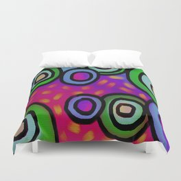 Colorful Abstract Digital Painting Duvet Cover