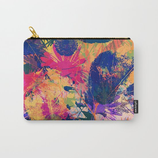 Colorful abstract leaves 2 Carry-All Pouch