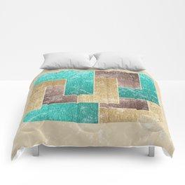 Mod Retro Digital Graphic Old Worn Velveteen Tile Comforters