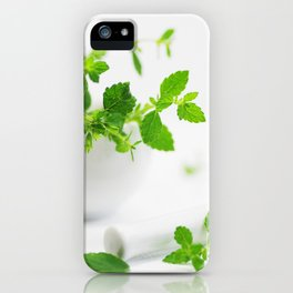 Melissa officinalis iPhone Case