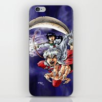 inuyasha iPhone & iPod Skins featuring Inuyasha & Kagome by MarioRojas