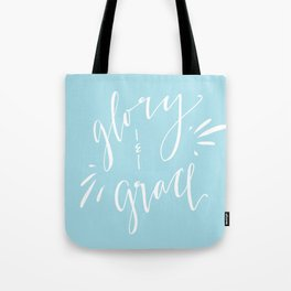 Glory and Grace // Blue Tote Bag