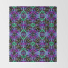 Tryptile 27b (Repeating 1) Throw Blanket