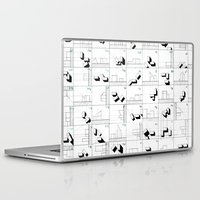 matrix Laptop & iPad Skins featuring matrix by sharon