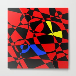 Red Psyche Metal Print