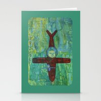 pilot Stationery Cards featuring Pilot by cathie joy young