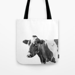 Cow Photography Animal Art | Minimalism black and white | black-and-white | Peek-a-boo Tote Bag