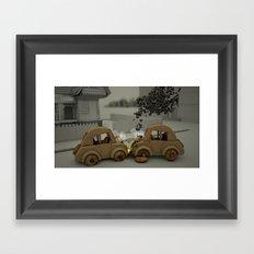 Car Crash Framed Art Print