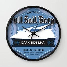 Full Sail Barge Ale Wall Clock