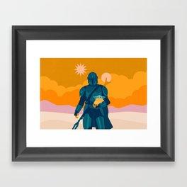 """Mando and Child - Gold"" by Sabrena Khadija Framed Art Print"