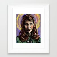 sylvia plath Framed Art Prints featuring St. Sylvia Plath by Buttons McTavish