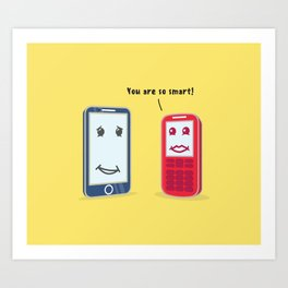 Smartphone evolution Art Print