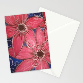 Flowers and Bubbles Stationery Cards