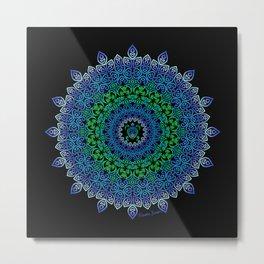 Tara's Tribal Turtle Mandala Metal Print