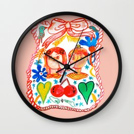 boy and girl forever in love Wall Clock