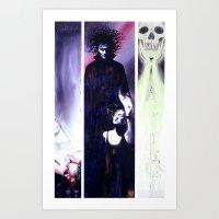 sandman Art Prints featuring Sandman: Triptych by kenmeyerjr