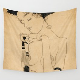 """Egon Schiele """"Standing Girl"""" Wall Tapestry"""