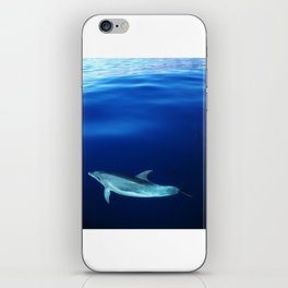 Dolphin, blue and sea iPhone Skin