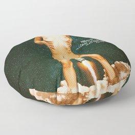 Blast Off - A Quiverish Production - Erotic Collage Art Floor Pillow