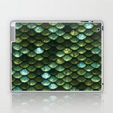 Aqua and green sparkling mermaid glitter scales- Mermaidscales Laptop & iPad Skin