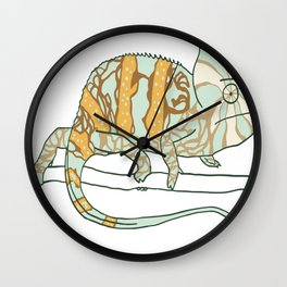 chameleon exotarium Wall Clock