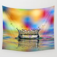 crown Wall Tapestries featuring Colorful Crown by ThePhotoGuyDarren