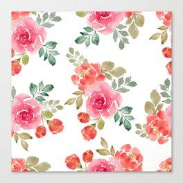 Peony Rose Canvas Print