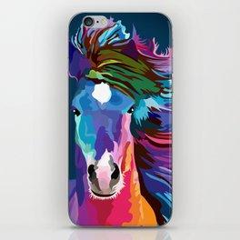 pop art horse iPhone Skin