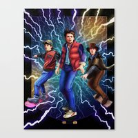 mcfly Canvas Prints featuring Triple McFly by QzKills