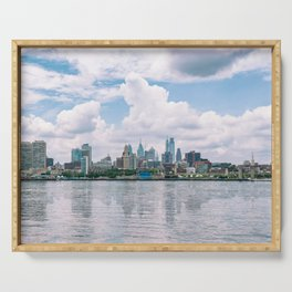 1513 - Philadelphia Cityscape from New Jersey Serving Tray