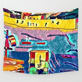 Polluted sea Wall Tapestry