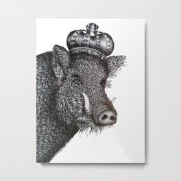 The Boar King Metal Print