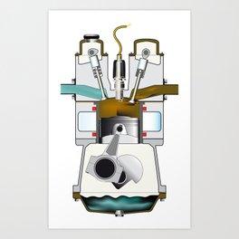 Exhaust Stroke Art Print