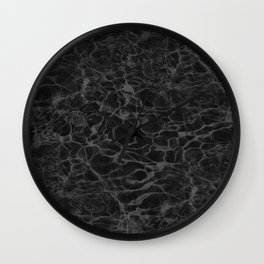Black and White Fire Water Wall Clock