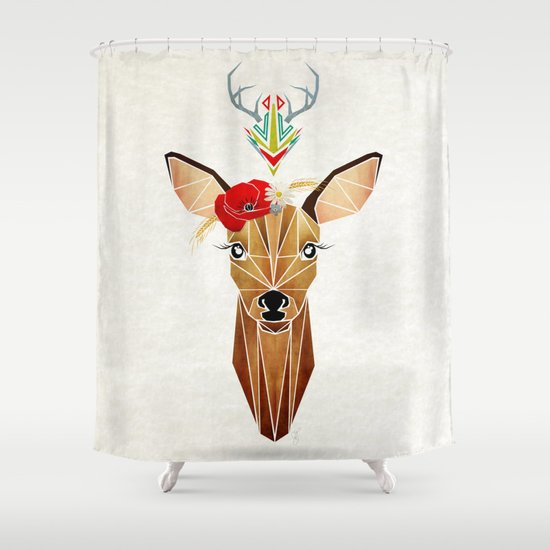 biche oh ma biche ! Shower Curtain