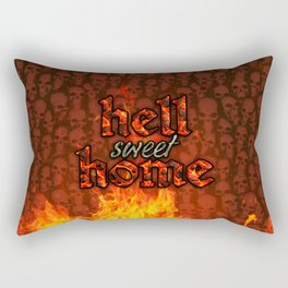 Hell Sweet Home Rectangular Pillow