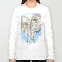 elephants Long Sleeve T-shirts featuring Elephants by Isabel Sobregrau