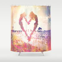 mermaids Shower Curtains featuring Mermaids by Darcy Lynn Designs