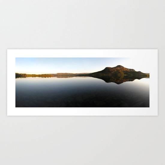 lake mirror panorama, finland. Art Print
