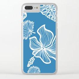 Blue Tropicana Clear iPhone Case