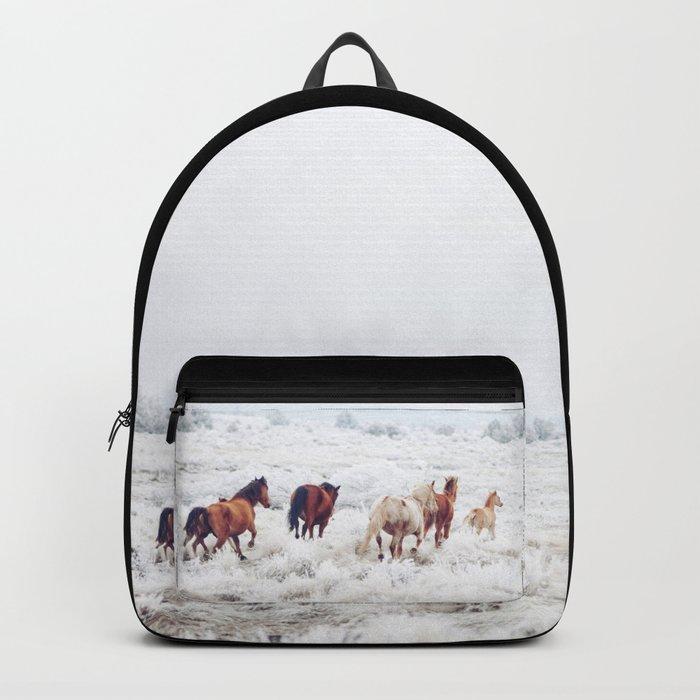 Winter Horses Backpack