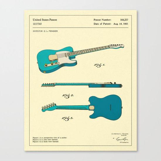 Guitar (1951) Canvas Print
