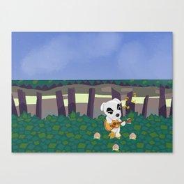 Kk. Slider Night Time Ballad, Animal Crossing Canvas Print