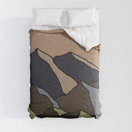 Landscape illustration Comforters