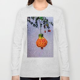 Stained glass and flower pendant Long Sleeve T-shirt