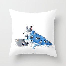 Cozy Browsing Throw Pillow
