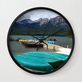 Canoes At Pyramid Lake Wall Clock