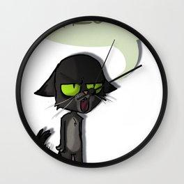 Mean Cat Wall Clock